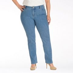 123102ae Plus Size Lee Monroe Classic Fit Straight-Leg Jeans