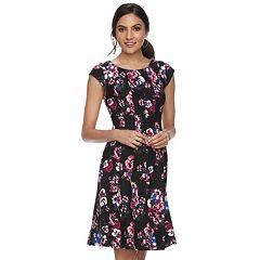 Women's ELLE™ Floral Print Fit & Flare Dress