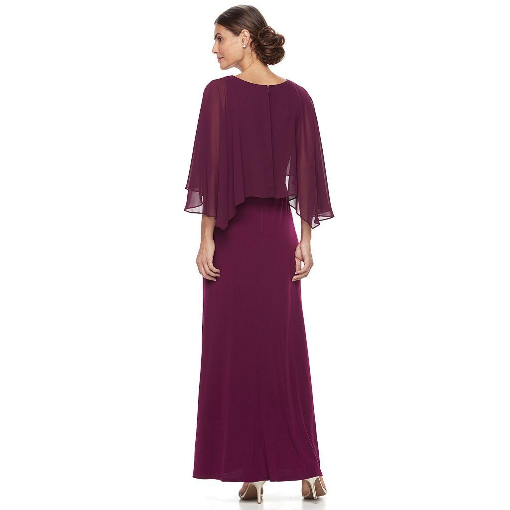 Women's Chaya Chiffon Popover Evening Gown
