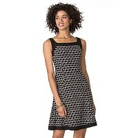 Women's Chaps Abstract Fit & Flare Dress