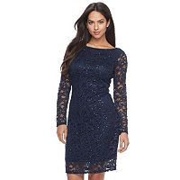 Women's Onyx Nite Sequin Lace Sheath Dress
