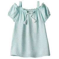Girls 7-16 Mudd® Tassel Patterned Off Shoulder Top