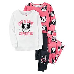 Baby Girl Carter's 'Rise & Shine Superstar' Dog Tops & Bottoms Pajama Set