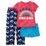 Girls 4-14 Carter's 3 pc Pajama Set