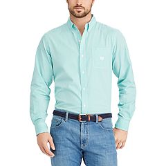 Big & Tall Chaps Classic-Fit Striped Button-Down Shirt