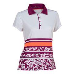 Plus Size Nancy Lopez Pretty Short Sleeve Golf Polo