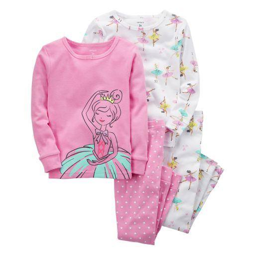 Girls 4-12 Carter's 4-pc. Ballerina Pajama Set