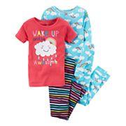 Girls 4-12 Carter's  4-pc.'Wake Up Awesome' Graphic Pajama Set
