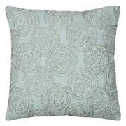Rizzy Home Circular Geometric Beaded Throw Pillow