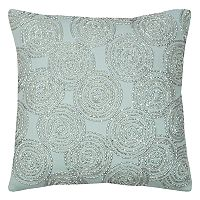 Rizzy Home Circular Geometric Beaded Throw Pillow