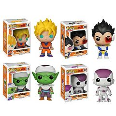 Funko Pop! Dragonball Z  Anime Vinyl Collectors Set: Super Saiyan Goku, Vegeta, Piccolo, Final Form Frieza