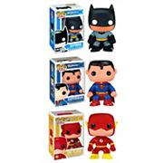 Funko POP! DC Universe Batman, Superman & The Flash Heroes Vinyl Collectors Set
