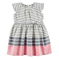 Baby Girl Carter's Striped Linen-Blend Dress