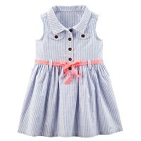 Baby Girl Carter's Pinstripe Dress