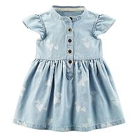 Baby Girl Carter's Floral Chambray Dress
