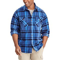 Big & Tall Chaps Classic-Fit Microfleece Shirt Jacket