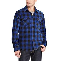 Big & Tall Chaps Classic-Fit Microfleece Shirt Jacket