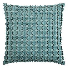Rizzy Home Circles & Discs Sewn Throw Pillow