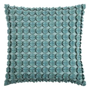 Rizzy Home Circles & Discs Sewn Throw Pillow