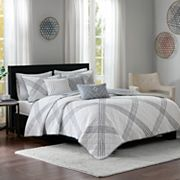 Madison Park 6 pc Syracuse Coverlet Set