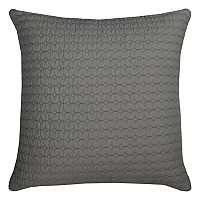 Rizzy Home Solid Embroidered Throw Pillow