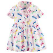Baby Girl Carter's Butterfly Henley Dress