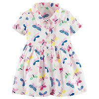 Baby Girl Carter's Butterfly Henley Dress