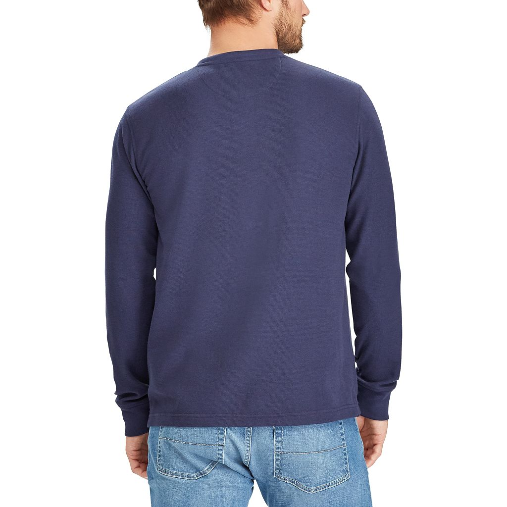 Big & Tall Chaps Classic-Fit Waffle-Weave Henley