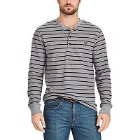 Big & Tall Chaps Classic-Fit Striped Waffle-Weave Henley