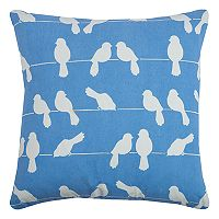 Rizzy Home Birds on a Wire Printed Embroidered Throw Pillow