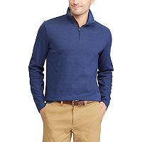Big & Tall Chaps Classic-Fit Herringbone Quarter-Zip Pullover