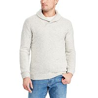 Big & Tall Chaps Classic-Fit Donegal Textured Shawl-Collar Sweater