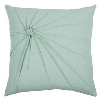 Rizzy Home Twisted Tacked Knot Throw Pillow