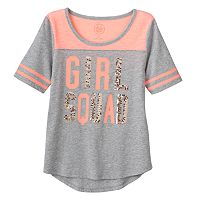 Girls 7-16 SO® Sequin Graphic Varsity Tee