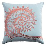 Rizzy Home Shell Embroidered Throw Pillow