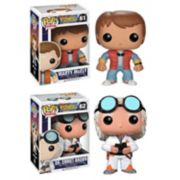 Funko POP! Back to the Future Doc Emmet Brown & Marty McFly Movie Vinyl Collectors Set