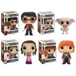 Funko Pop! Harry Potter: Harry Triwizard, Dobby, Hermione Yule Ball, & Ron Yule Ball Collectors Set