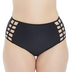 Plus Size Island Soul Curve High-Waisted Bikini Bottoms