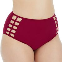 Plus Size Island Soul Curve High-Waisted Bikini Bottoms