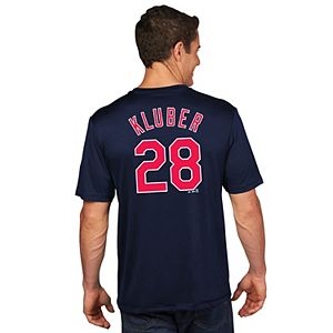 Men's Majestic Cleveland Indians Corey Kluber Name and Number Tee