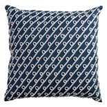 Rizzy Home Diagonal Stripes & Swoops Embroidered Corded Throw Pillow