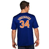 Men's Majestic New York Mets Noah Syndergaard Name and Number Tee