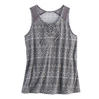 Girls 7-16 Mudd® Lace-Up Tank Top