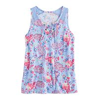 Girls Plus Size Mudd® Lace-Up Tank Top