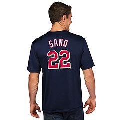 Men's Majestic Minnesota Twins Miguel Sanó Name and Number Tee