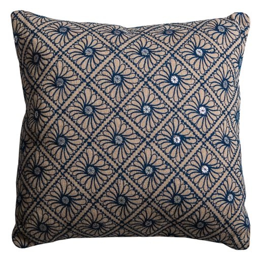 Rizzy Home Mirrored Discs Embroidered Throw Pillow