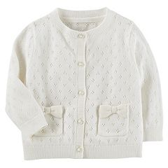 Baby Girl Carter's Bow Pocket Cardigan
