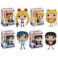 Funko Pop! Sailor Moon Anime Collectors Set: Sailor Moon w/ Luna, Venus w/ Artemis, Sailor Mercury & Sailor Mars