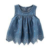 Toddler Girl OshKosh B'gosh® Chambray Eyelet Top