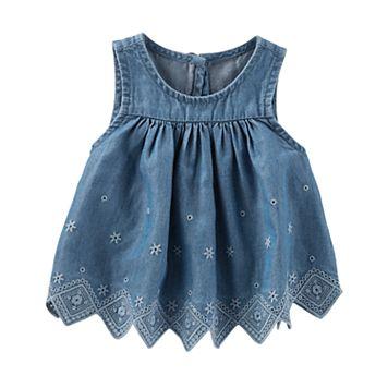 Toddler Girl OshKosh B'gosh® Chambray Eyelet Top